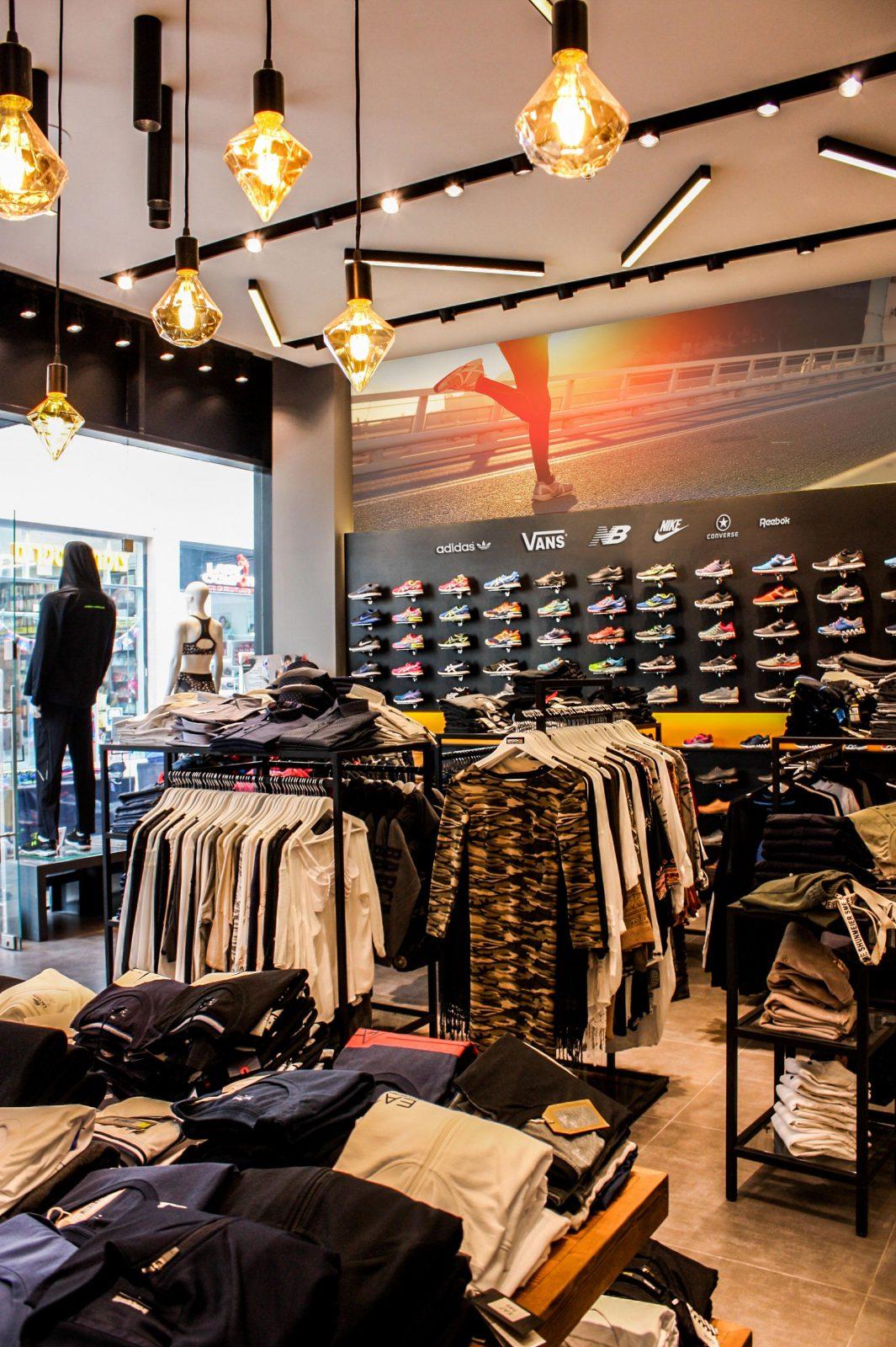 עיצוב חנות ספורט ומותגים חשיפת פרוייקט