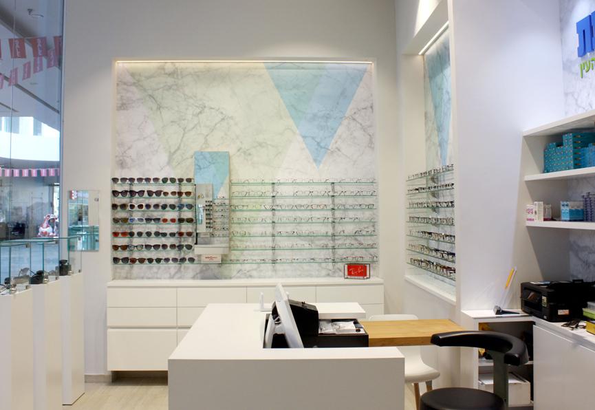 חנות משקפיים מעוצבת
