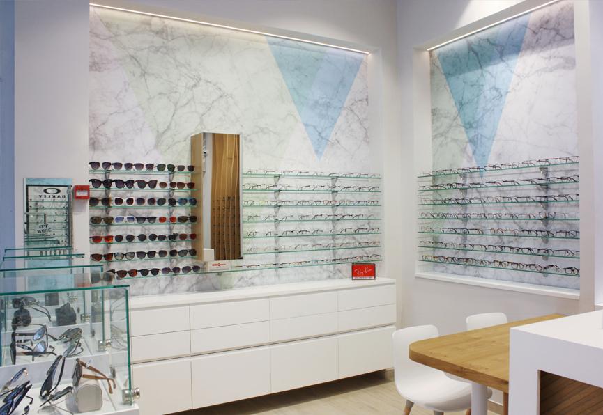 עיצוב חנות משקפיים